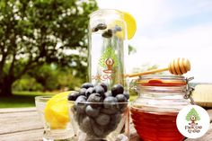Lemon water flushes out toxins and is extremely beneficial for the body. Add blueberries which contain antioxidants, that work to neutralize free radicals linked to the development of cancer, cardiovascular disease, and other age-related conditions.  Get your Pekoe Tree Tea tumbler at http://pekoetree.com
