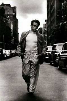 """New York overwhelmed me. For the first few weeks I only strayed a couple of blocks from my hotel off Times Square. I would see three movies a day in an attempt to escape my loneliness and depression. I spent $150 of my limited funds just on seeing movies."" ~ James Dean ❥"