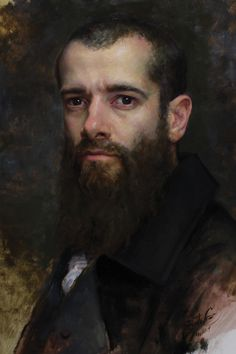 In 7 easy to read steps, Cesar Santos describes how he paints a classical portrait (self portrait) with oil on linen. Follow along for his useful info!