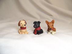 handmade Christmas ornament Polymer clay custom dog puppy