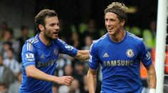 Mata y Torres celebrando un gooooollllll :)