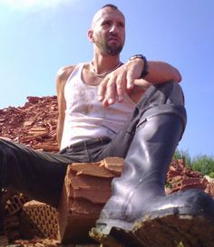 Wellington Boot, Tough Guy, Leather Boots, Sexy Men, Guys, Mohawks, Football, Jeans, Clothing