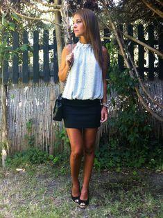 Falda negra+Blusa B&W