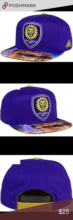 🆕 Orlando City SC Adidas MLS Skyline SnapBack Hat Brim shows Orlando City Skyline. Brand new with tags! adidas Accessories Hats