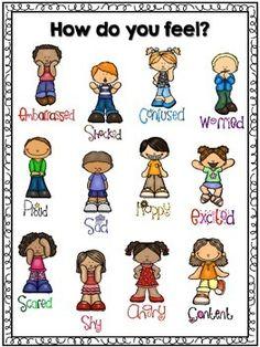 FREE Feelings Chart in color and black and white Emotions Preschool, Preschool Behavior, Classroom Behavior, Classroom Posters, Preschool Classroom, Preschool Learning, Classroom Labels, Kindergarten, Middle School Counselor