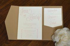 Modern blush wedding invitations by Something Printed {www.something-printed.com}