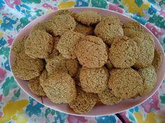 Μπισκότα με βρώμη και ταχίνι Krispie Treats, Rice Krispies, Healthy Cookies, Sweet Recipes, Cereal, Anna, Breakfast, Desserts, Food