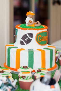 University of Miami Cake Football UM UniversityOfMiami