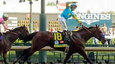 Victor Espinoza guided <b>American</b> <b>Pharaoh</b>, the favourite, to victory in ...