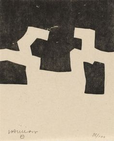 Eduardo Chillida Belzunce, Hommage à Heidegger Abstract Words, Abstract Art, Spanish Painters, Fine Art Auctions, Black And White Abstract, Surface Pattern Design, Famous Artists, Art And Architecture, Line Art