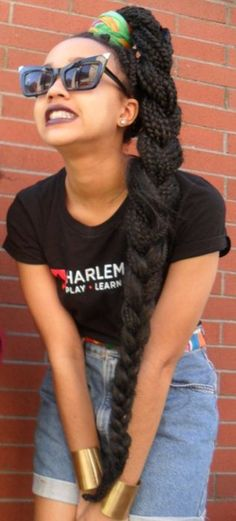 Rock dem box braids with a quick and sophiscated side plat
