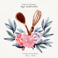 Blog Backgrounds, Flower Backgrounds, Watercolor Cards, Watercolor Illustration, Cake Albums, Catering Logo, Pomegranate Art, Muslim Ramadan, Logo Samples