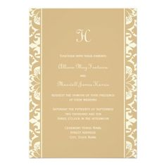 ReviewMonogram Wedding Invitation | Latte Cream Damaskin each seller & make purchase online for cheap. Choose the best price and best promotion as you thing Secure Checkout you can trust Buy best