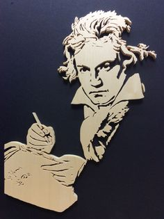 Scroll Saw Portrait, Beethoven