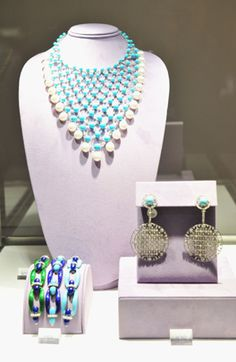 """Jewelry owned by Elizabeth Taylor on display at """"The Collection of Elizabeth Taylor"""" auction press preview at Christie's on Dec. 1, 2011, in New York."""
