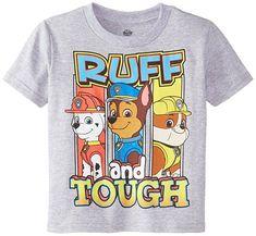 Amazon.com: Paw Patrol Little Boys' Toddler Short Sleeve T-Shirt, Heather Grey, 2T: Clothing