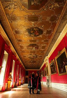 The King's Gallery in the King's Apartments at Kensington Palace, LOndon