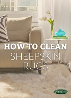 How to clean and wash a natural sheepskin rug