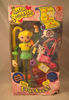 2000 Ohio Art Company Betty Spaghetty Spaghetti Jill DOGS ROCK Doll IN BOX