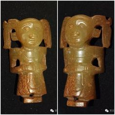 Jade figurine, Western Zhou period. Collection of Shaanxi Province Research Institute of Archaeology, China