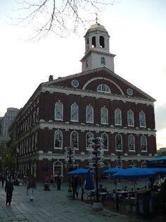 Faneuil Hall Marketplace, Boston Massachusetts. We had Boston baked beans in Boston, 1995