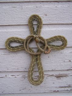 Rope Cross Western Decor with Honda by RodeoMomma1 on Etsy, $28.00