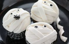 Mummy cupcakes for the Halloween Party!