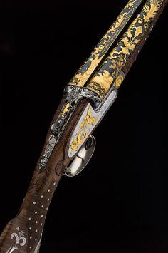 Westley Richards Boutet Gun engraved by the Brown Brothers Arms - Gorgeous Westley Richards Boutet G Weapons Guns, Guns And Ammo, Firearms, Shotguns, Gun Art, Custom Guns, Metal Engraving, Hunting Rifles, Cool Guns