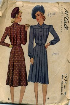 McCall 3934: Ladies' and Misses' dress