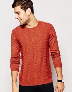 ASOS Textured Jumper in Merino Wool Mix