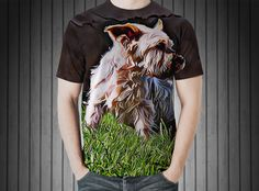 T-Shirt - Dog yorkshire terrier small old