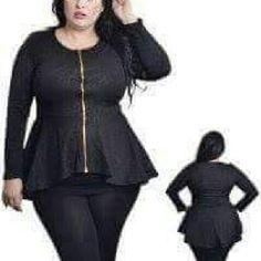 Peplum top Black (floral print) top. Never worn Tops Tees - Long Sleeve