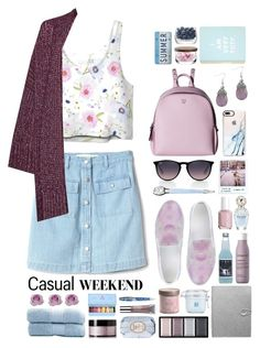 """""""Spring: Casual Weekend"""" by mariaalatzak ❤ liked on Polyvore featuring Gap, Great Plains, MCM, Casetify, McQ by Alexander McQueen, Ray-Ban, Clé de Peau Beauté, Living Proof, Polaroid and Dassie"""