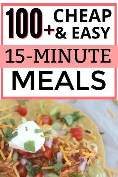 Cheap dinner ideas for a family on a a budget. #dinnerideas #cheapdinnerideas #cheapdinnerideas 15 Minute Dinners, Fast Dinners, Cheap Dinners, Quick Meals, Dinner On A Budget, Dinner Ideas, Dinner Recipes, Fast Easy Dinner, Cooking On A Budget