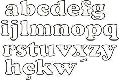 moldes de letras para fieltro - Buscar con Google | nombre en ...