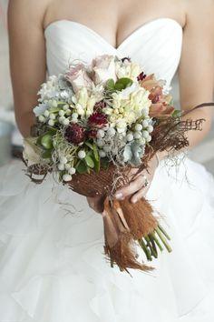 Very unique textural bouquet ~ Photography by http://insightcreative.com.au, Floral Design by http://townsvilleflowermarket.com.au