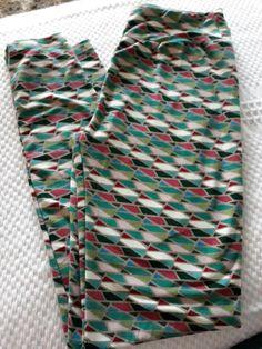 5d7bb46ae2b47e LuLaRoe Leggings stretch yoga Pants sz lg 2 10 OS One Size geo pattern  #fashion