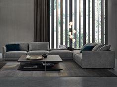 Poliform presents Bristol, design by Jean-Marie Massaud Sofa Design, Flur Design, Hall Design, Furniture Design, Bristol, Italian Furniture Brands, Jean Marie, Sofa Couch, Contemporary Interior Design