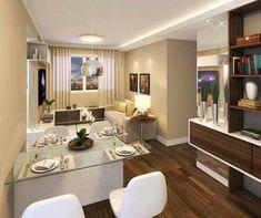 Sala y comedor departamento pequeño