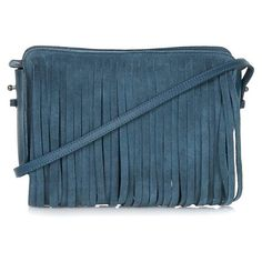 Women's Topshop Suede Tassel Clutch (88 CAD) ❤ liked on Polyvore featuring bags, handbags, clutches, bolsas, blue handbags, suede clutches, blue suede purse, topshop and suede purse