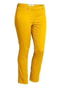 Sommer 7/8 Hose Stretchhose von Sheego in Gelb Größe 25 (50 Kurzgröße)(455901)