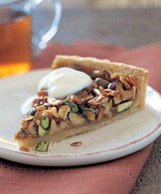 Caramelized Pistachio, Walnut, and Almond Tart Recipe | Epicurious.com