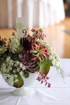 Wedding Table Centerpiece featuring Echevarria and Air Ferns by The Cutting Garden, via Flickr