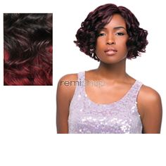 Empress Lace Front Edge Heather - Color DXR991 - Synthetic (Curling Iron Safe) Baby Hair Lace Front Wig