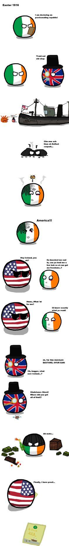 Hibernian Bloodredditormade ( Ireland, UK, USA ) by Blackfire853  #polandball #countryball