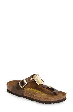 Birkenstock 'Gizeh' Fringe Thong Sandal (Women) available at #Nordstrom