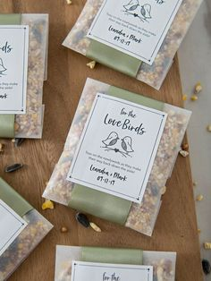 """These DIY """"Birdseed Toss"""" Packets Are The Absolute Cutest! A birdseed wedding toss, eco friendly and darling! Unique Wedding Favors, Unique Weddings, Diy Wedding, Rustic Wedding, Wedding Gifts, Wedding Decorations, Intimate Weddings, Golf Wedding, Beach Weddings"""