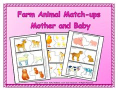 Happy Mother's Day! There's a freebie at my blog in honor of this special day. It's a printable to make match-up puzzles. It's appropriate for 3 to 5 year olds. Children match the adult farm animal with the baby. Happy Mother's Day to teacher-moms, moms, mums, and anyone else!