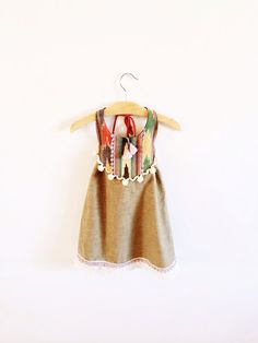 The Brass Razoo Kids Southwestern boho festive dress