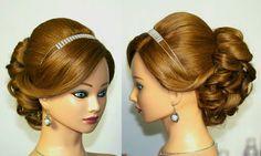 Wedding prom hairstyles for medium long hair. Свадебная прическа,  приче...